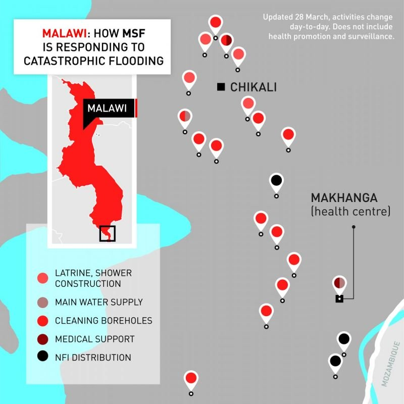 How MSF is responding to flood-affected areas in Malawi