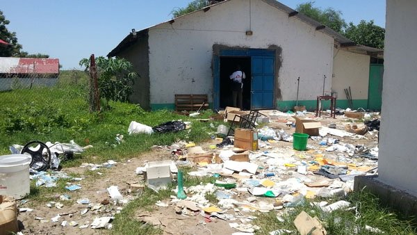 MSF hospital in Pibor, South Sudan, purposefully damaged to render it inoperable