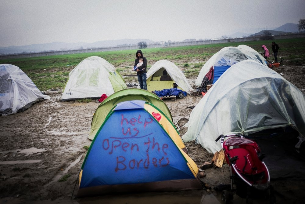 Idomeni camp, Greece
