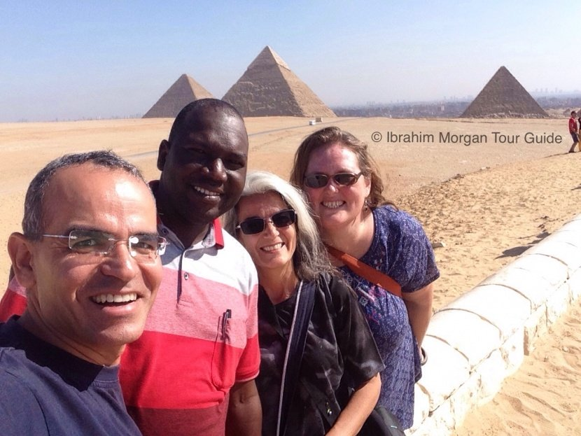 Ainslie McClarty and her colleagues in Egypt.