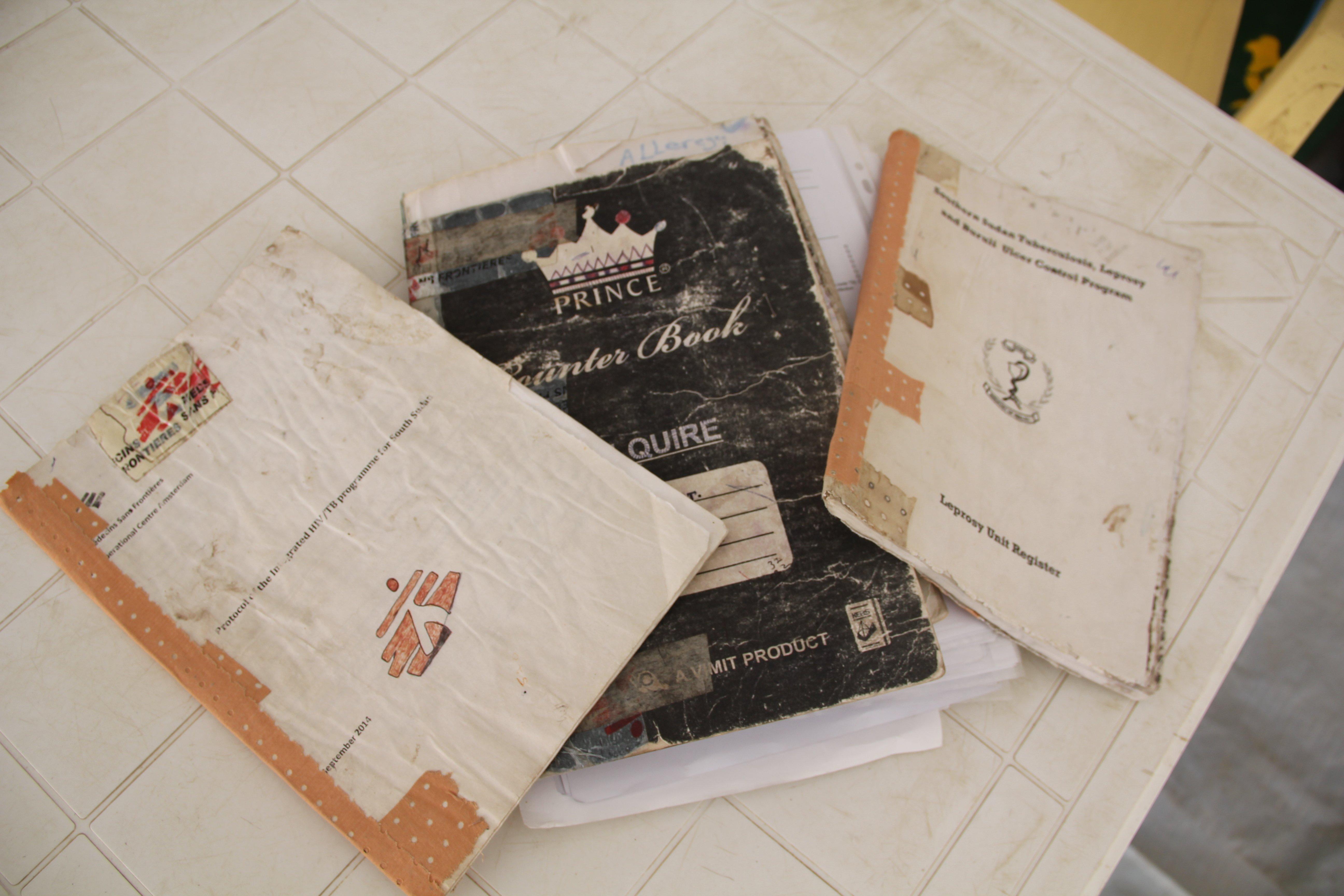 The book that traveled too far. Photo: Jacob Kuehn/MSF
