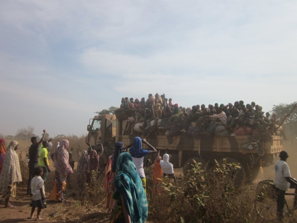 Muslim community leaving Bossangoa. Photo: MSF