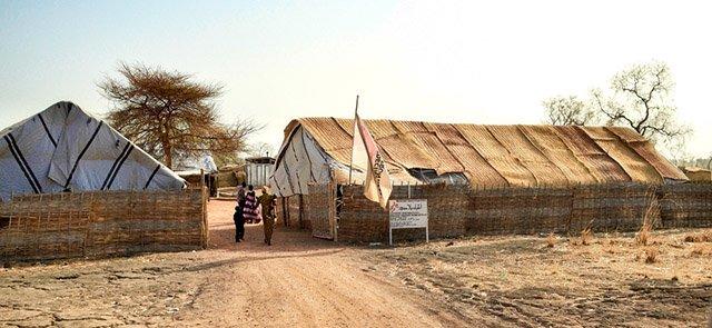 A hospital run by MSF in Agok, Aybei Region, South Kordofan. Photo: Marcell Nimfuehr