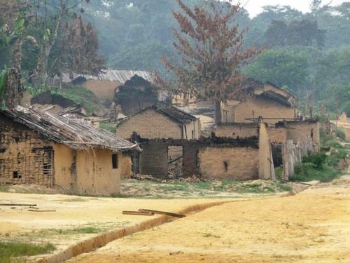 File photo of abandoned village in Shabunda region, circa 2010. Photo: MSF