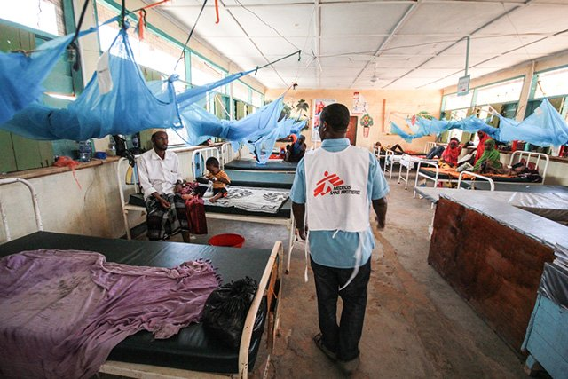 The maternity ward at MSF's hospital in Dagahaley refugee camp, Dadaab, Kenya. In 2014, there were 3,240 babies born in the hospital.Photo: Tom Maruko