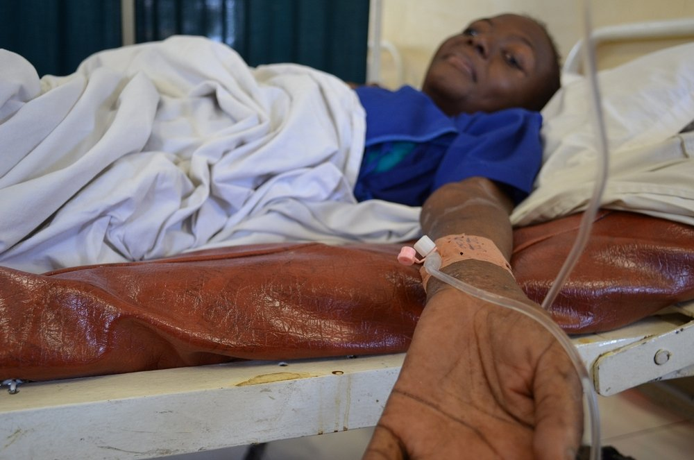 Elysee, at MSF Kabinda hospital in Kinshasa. Photo: Sandra Smiley
