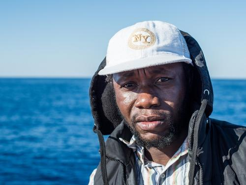 "Abdu, 34 years old, from Gambia. ""If you have no money your life doesn't have value for them. If you are lucky you know people that will pay for you - I was lucky."" Photo: Gabriele François Casini/MSF"