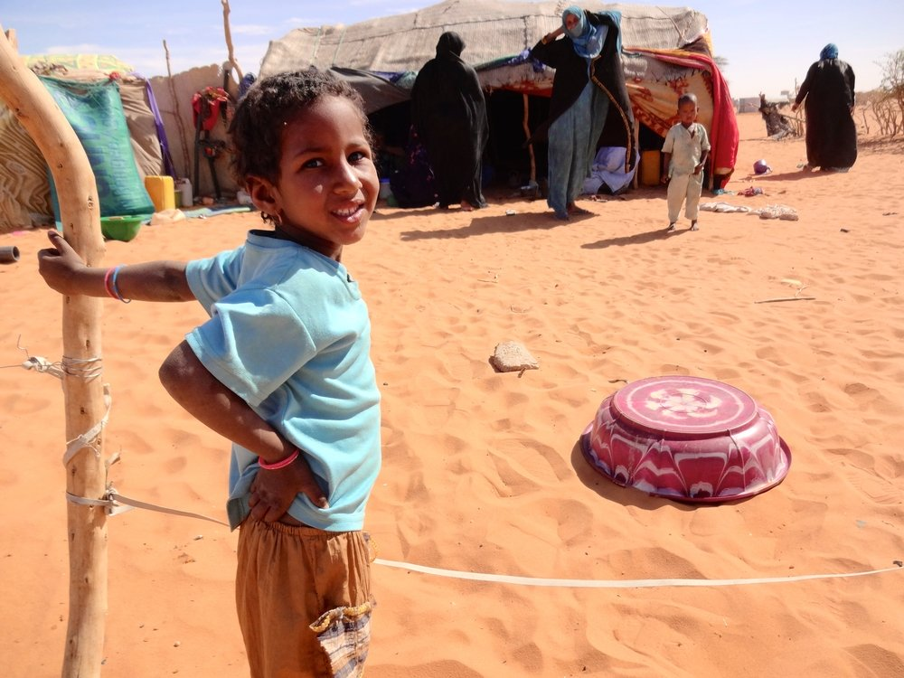 49,500 refugees from northern Mali have been living in the Mbera camp in Mauritania's desert for the past three years. Photo: Avril Benoit