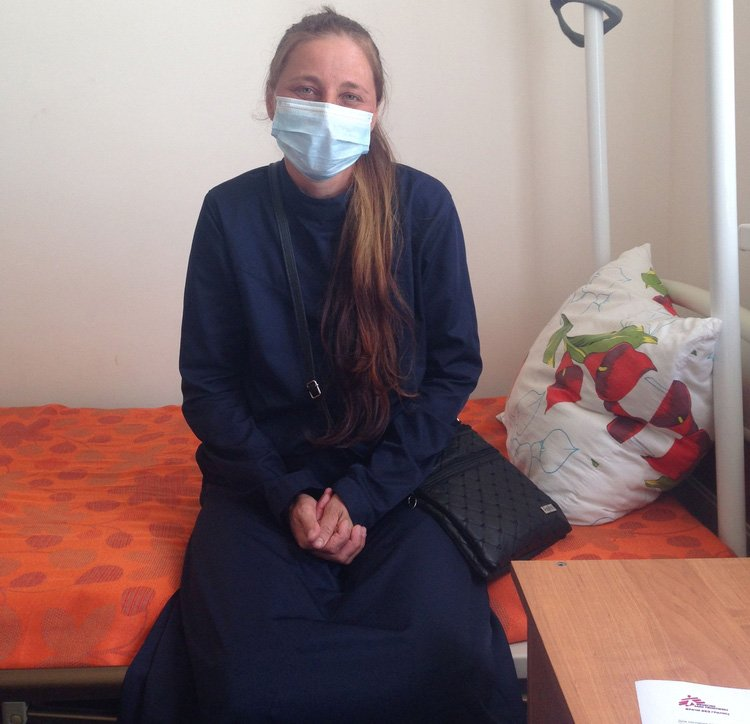 35-year old Elena is receiving treatment for XDR-TB in Grozny. She is one of 51 patients MSF is caring for, with a new combination of drugs that have never been used in the country before. Photo: Farida Abdulkadirova/MSF