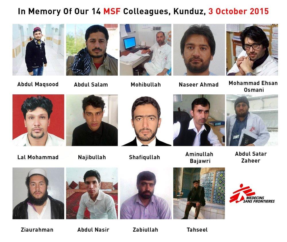 MSF Kunduz Colleagues