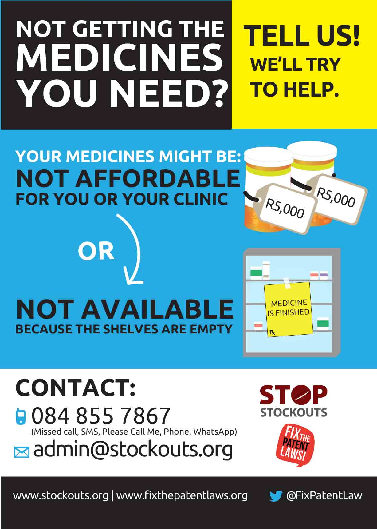 Not getting the medicine you need poster