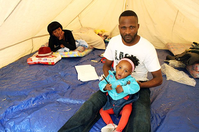 """""""We won't go back to Durban. There's no way. But we won't go to Congo either. At least in Joburg, we will be safer. It's better here – even if we have to sleep in the street"""" - Jean-Claude Dlamany. Photo: Taryn Arnott/MSF"""