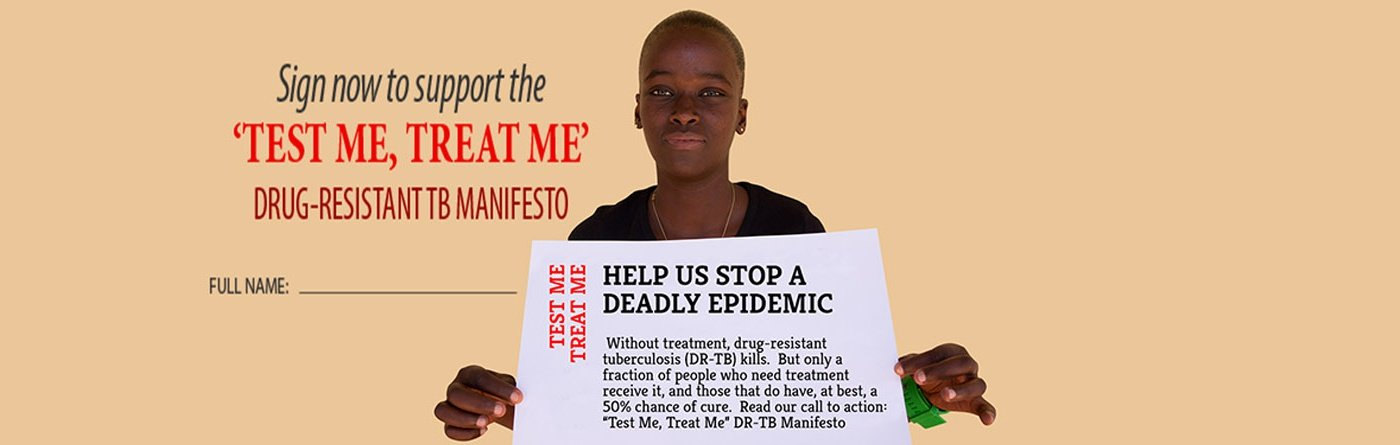 Phumeza Tisile, co-author of the DR-TB Manifesto* and XDR-TB survivor
