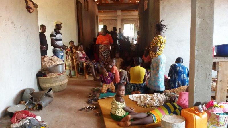 The displaced population in Bangasou, Central African Rpublic