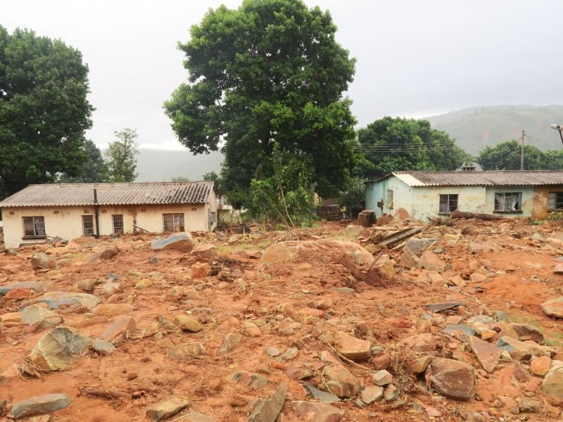 Damage caused by cyclone idai in Chimanimani, Zimbabwe