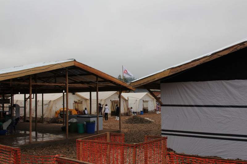 Transit centre for suspect Ebola patients in Beni