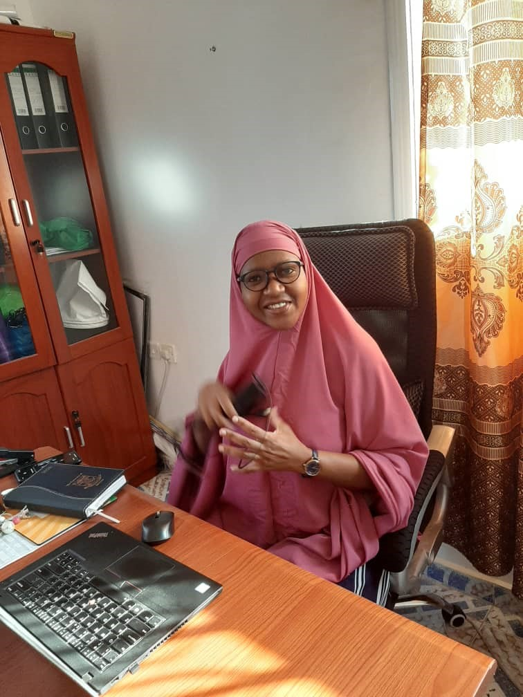 Lungile in her office in Hargeisa