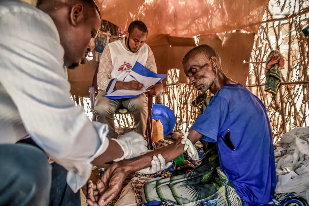 MSF's palliative care programme in Dagahaley, part of Dadaab refugee camp. Kenya, November 2019.
