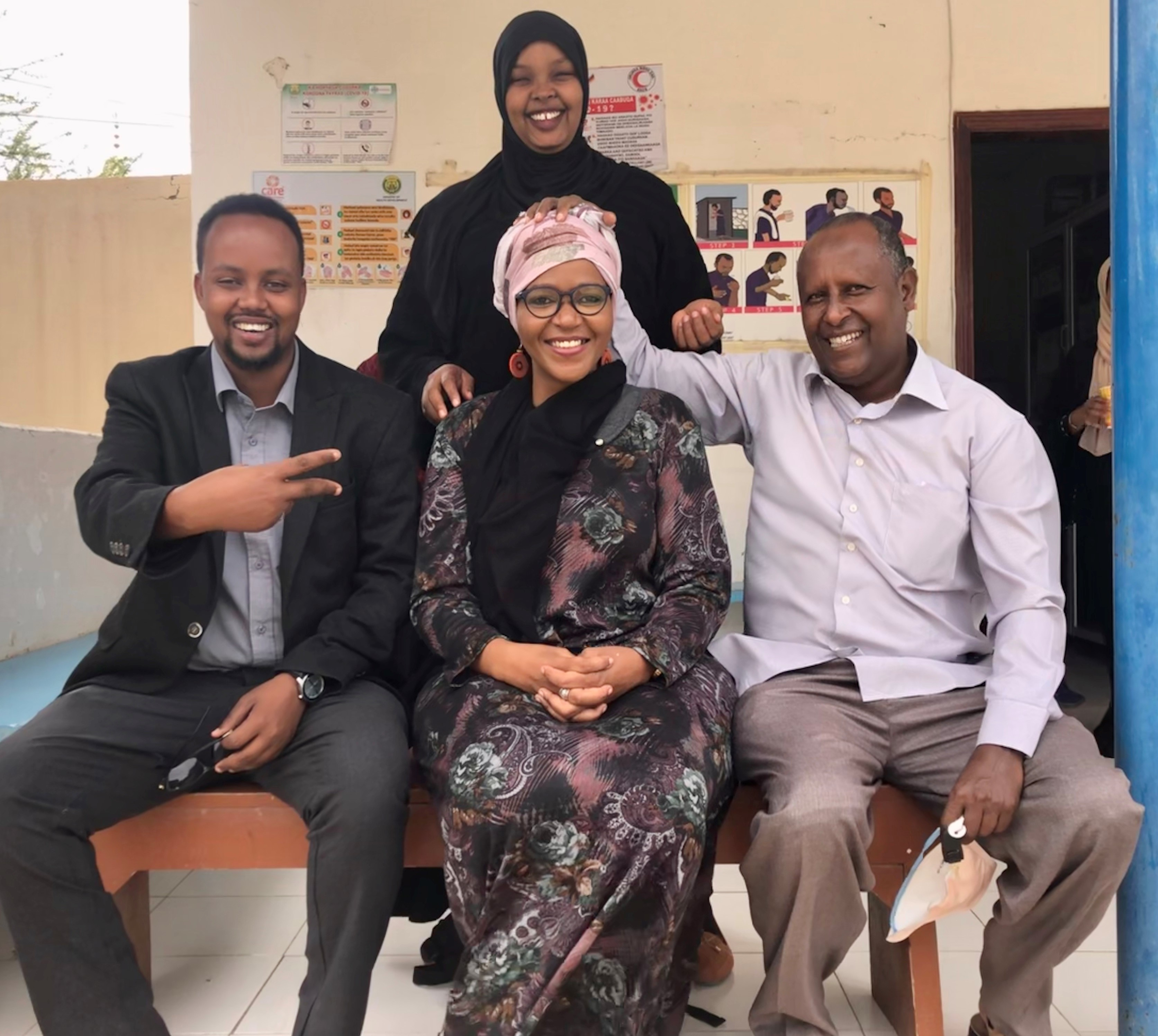 Lungile and  the doctors at the Hargeisa TB Hospital
