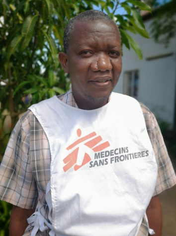 MSF logistician and community health worker Labana Steven