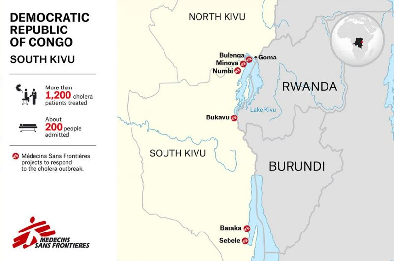 MSF, Doctors Without Borders, DRc, Cholera Outbreak, South Kivu