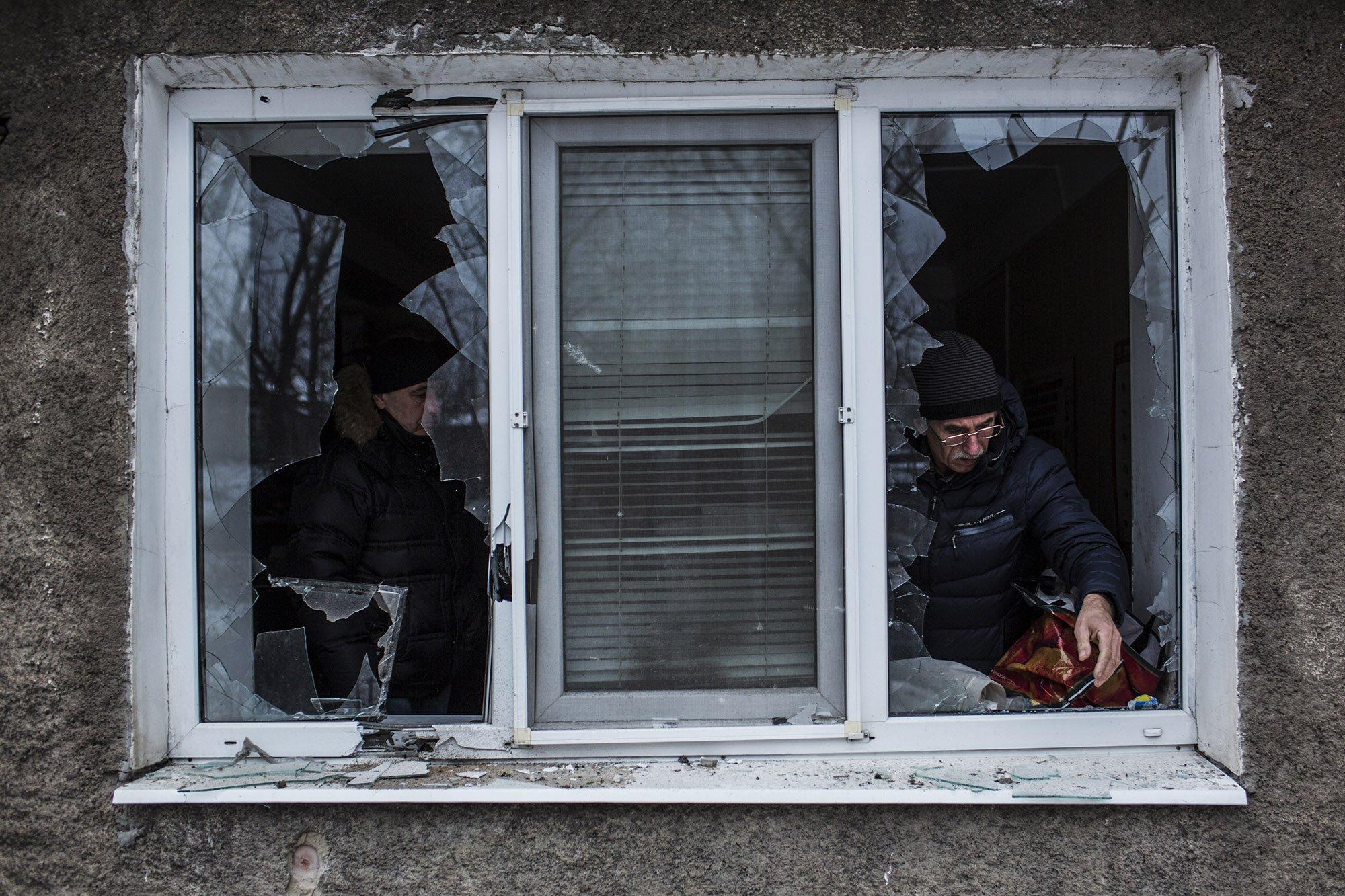Destroyed house in Ilovaisk, Donetsk region, Ukraine. Photo: Corinne Baker