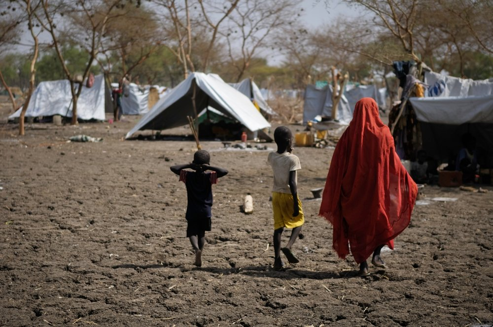 In Jamam refugee camp. Refugees from Blue Nile State in Sudan fled to seek safety in the refugee camps at Doro and Jamam