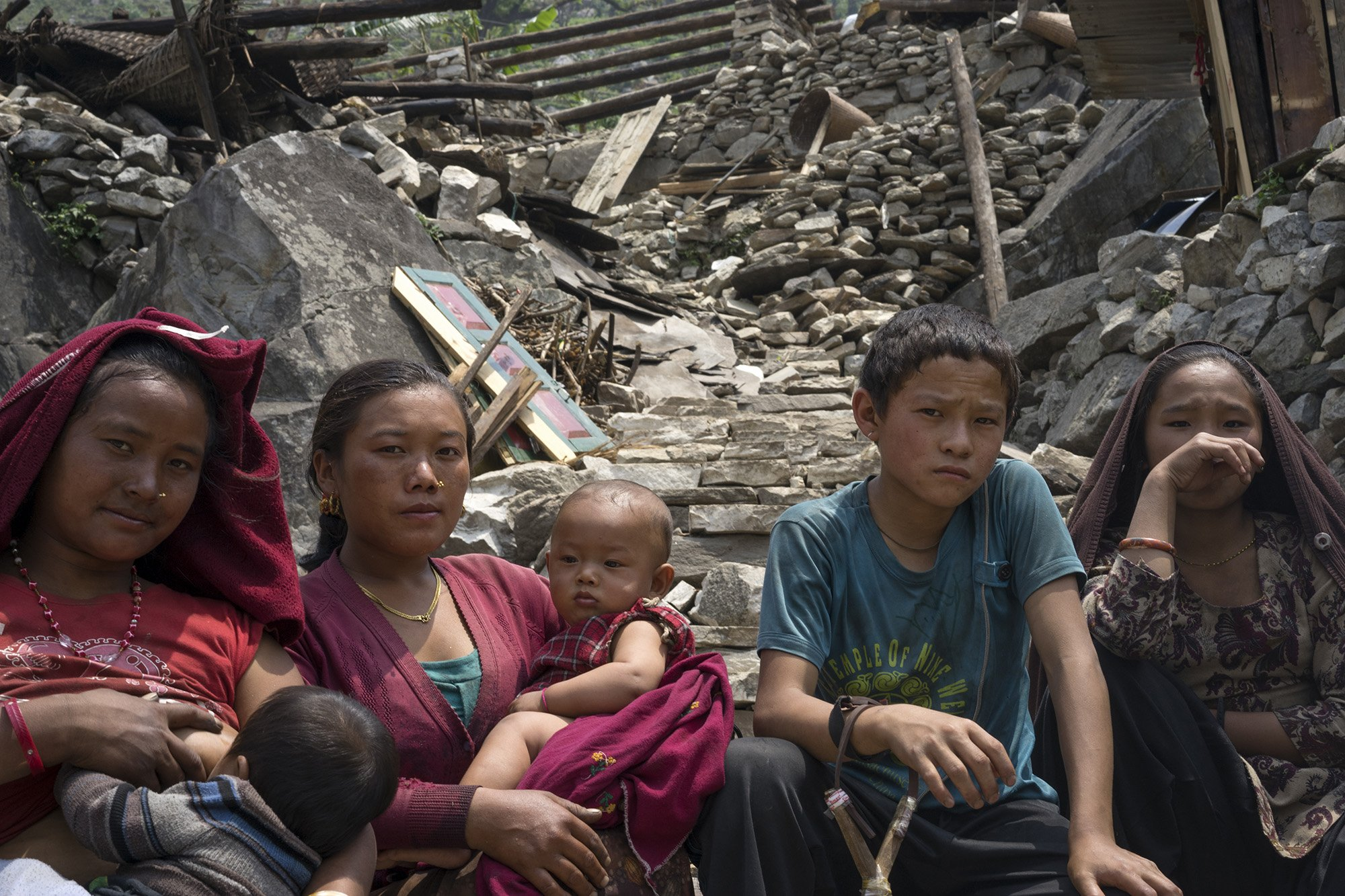 An MSF team visits heavily affected villages in the mountains to the north-west of Kathmandu . Photo: Corinne Baker