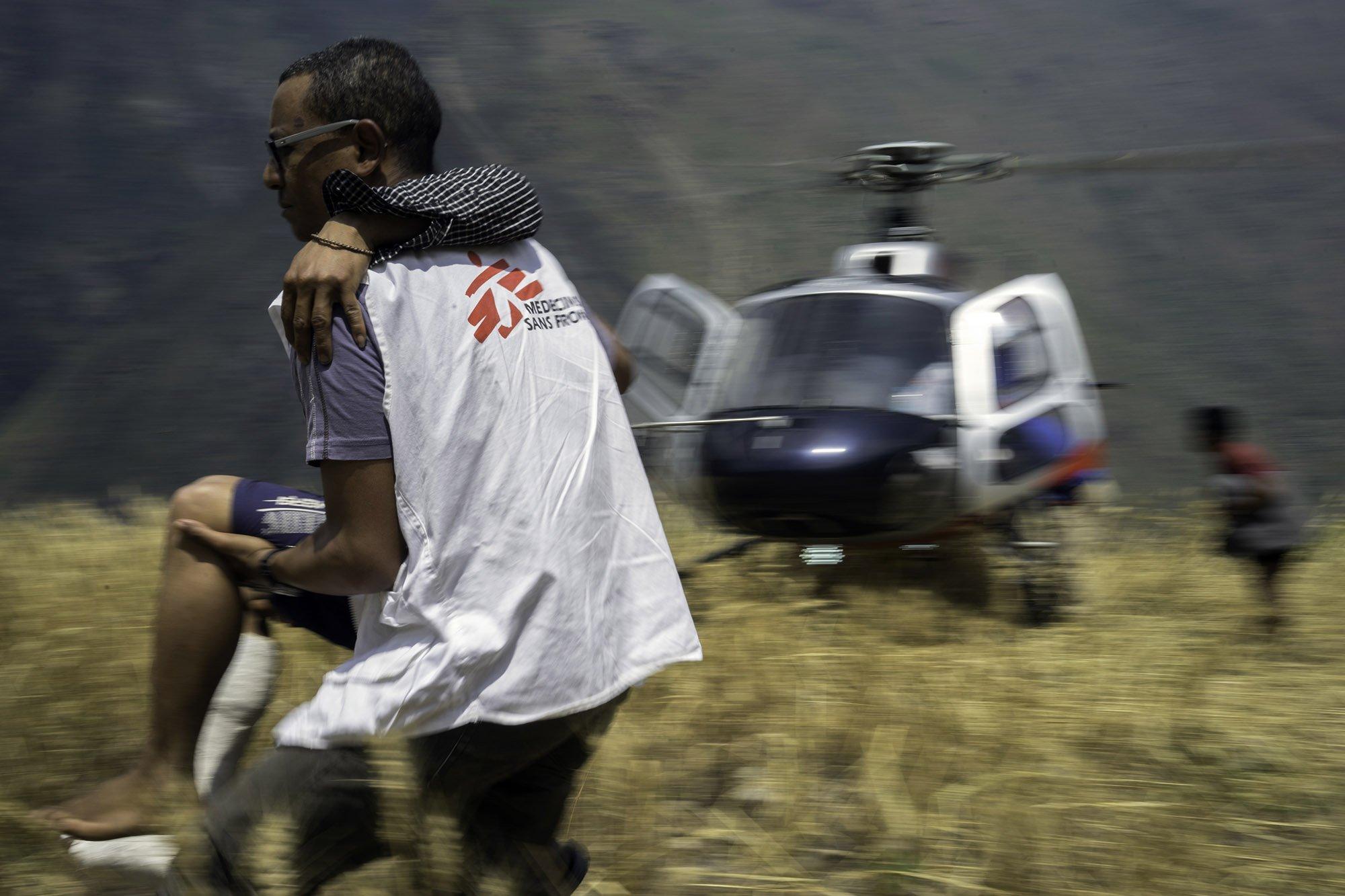 Dan Sermand, MSF emergency coordinator in Nepal