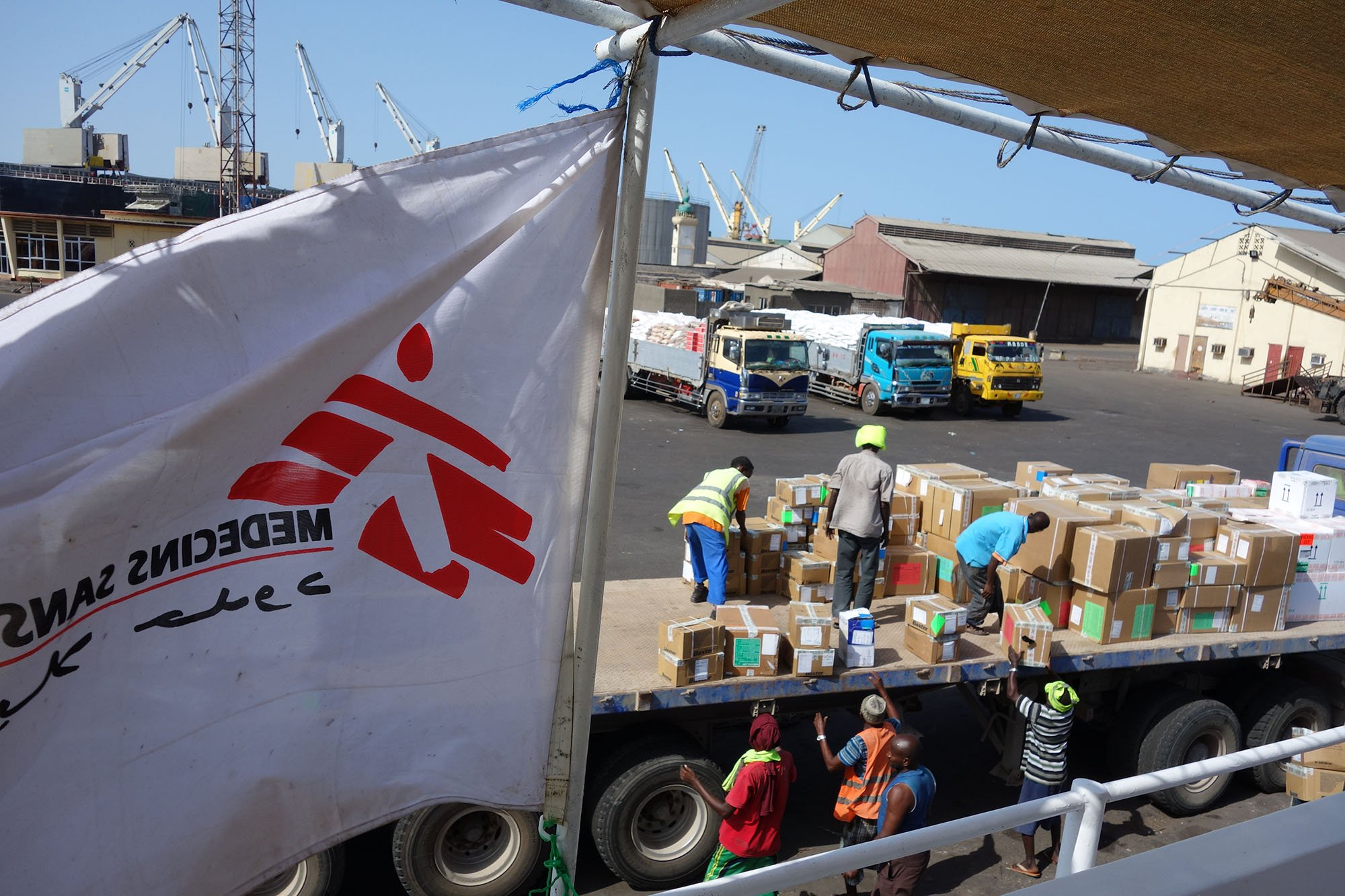 On Wednesday 8th April, one MSF boat successfully made the  crossing from nearby Djibouti to Aden with 1.7 tonnes of supplies to replenish stocks at the MSF Emergency Surgical Unit in Aden.