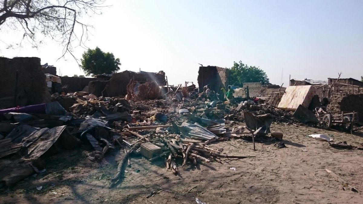 Rann IDP camp after the bombing, Nigeria