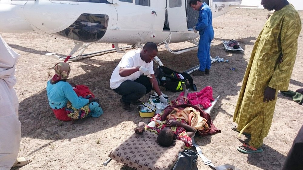 Mohammed, Medco is evacuating wounded people after the bombing of one IDP camp in Rann, Nigeria