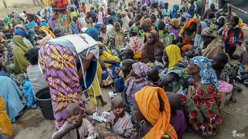 Nigeria: Newly displaced people arrived in Pulka town.