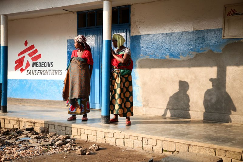 DRC, MSF 10 Years Project:Women are waiting at the MSF supported hospital in Masisi, North Kivu, DRC.