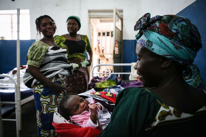 10 years in Masisi: A newborn in the MSF supported Masisi hospital in North Kivu province, DRC.