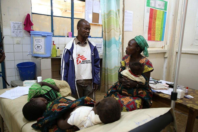 DRC Nord Kivu:Gun wounded 5 years old patient and his sister 3 years old were received at the emergency room at the MSF supported Masisi hospital, North Kivu