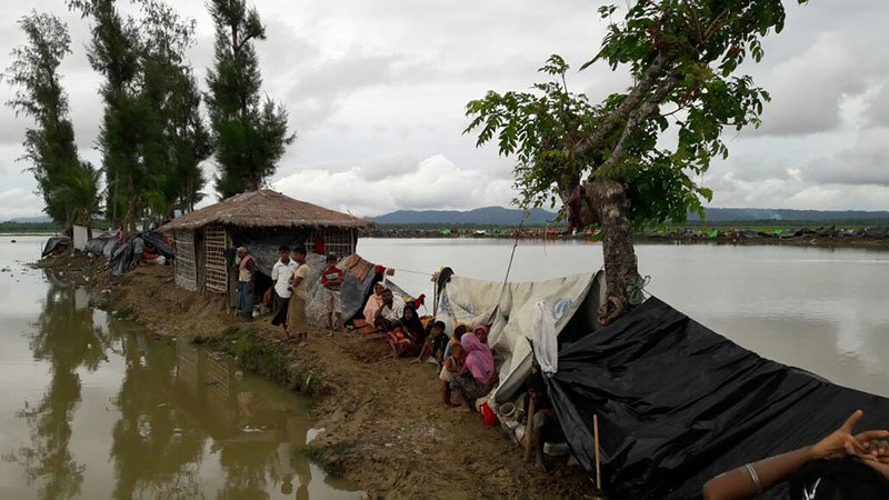 Rohingya who crossed into Bangladesh, fleeing violence in Rakhine state, Myanmar that started on 25 August.