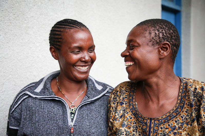 DRC, Mental Health: Jacqueline Nabonido Dusabe, MSF counsellor together with her patient Rachel at Mweso General Hospital on the border between Masisi and Rutshuru territories in North Kivu, Democratic Republic of Congo