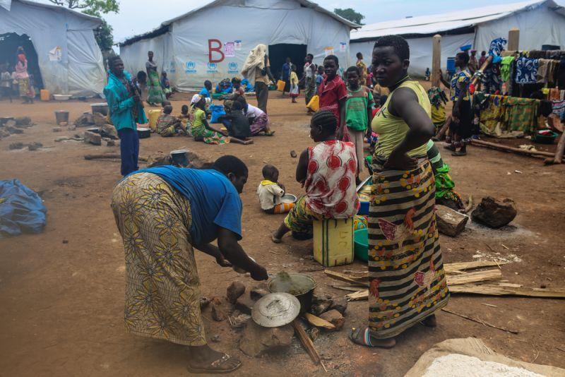 Children against measles to mitigate those risks, families fled the Congolese village of Tchomia