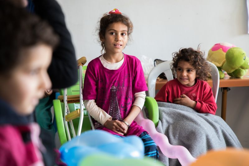 Sedar, the youngest, has been partially amputated of both legs, and Lamis, the eldest, of one leg.