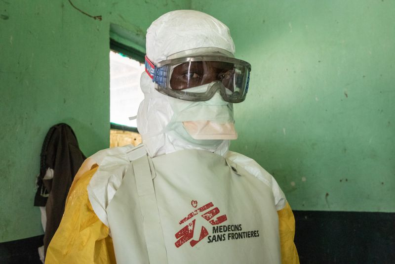 PPE in the ETC (Ebola Treatment Centre) in DRC