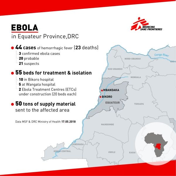 MSF, Doctors Without Borders, Democratic Republic of Congo, DRC, Ebola outbreak