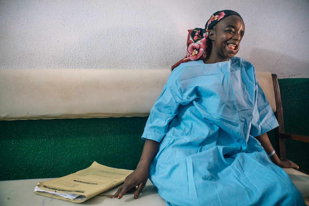 Hadiza is a noma patient from Kano state, Nigeria