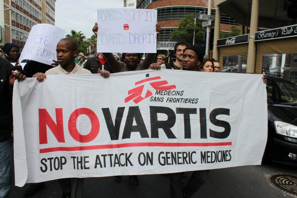 Global Health Activists gathered in Cape Town rallying against Novartis' attack on the 'pharmacy of the developing world' Health activists, academics, medical doctors, government representatives, and lawyers today held a rally protesting the drug company Novartis' court case against the Indian government, warning that the case could have a devastating impact on access to affordable medicines.