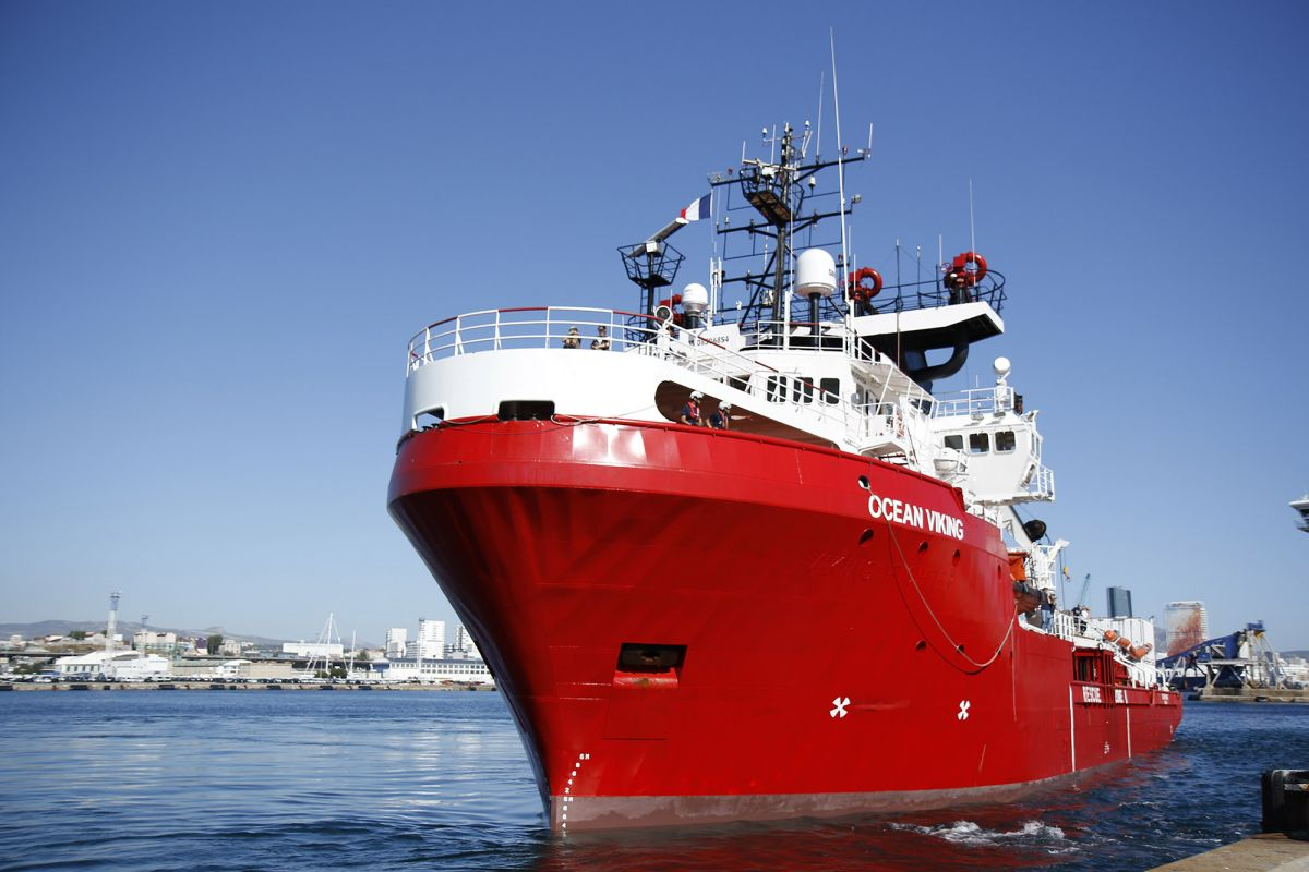 Ocean Viking, Search and rescue, Mediterranean