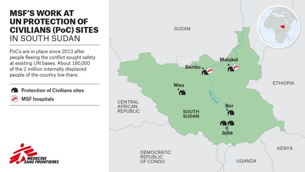 South Sudan Protection of Civilians MSF Map