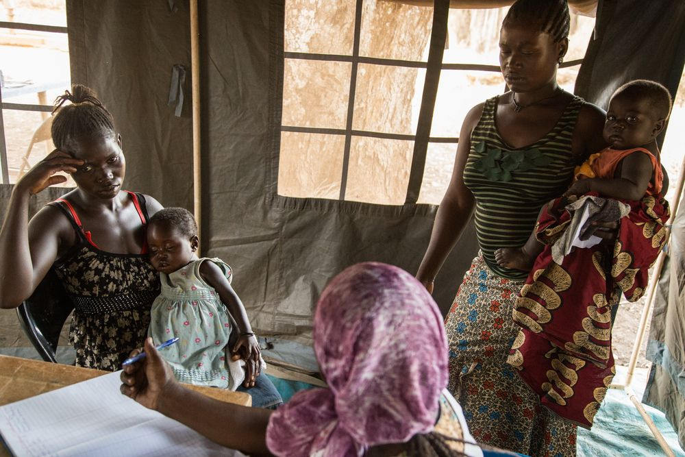 South Sudan Mothers and Children don't have a close access to medics