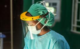 MSF staff in Nigeria in full PPE, 2020