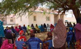 Somaliland community educating and counselling for TB patients