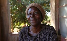 A picture of Renica Mapombere. She is 52 years old and is a diabetes and hypertension patient in Zimbabwe.